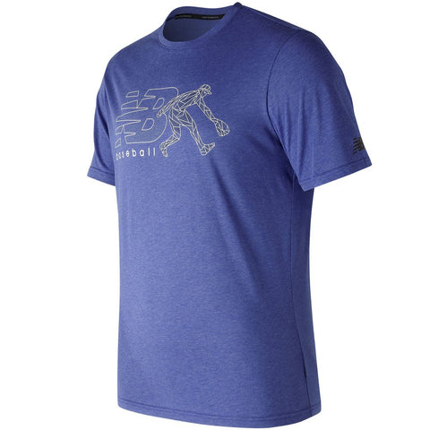 New Balance Men's Beta Baseball 5050 T-Shirt - Royal