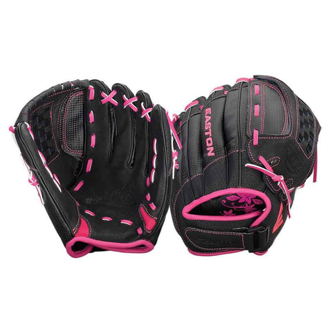 "Easton Z-Flex ZFXFP 1100BKPK 12.00"" Utility Fastpitch Glove - Black Pink"