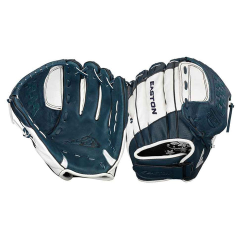 "Easton Z-Flex ZFXFP 1100NYWH 11.00"" Utility Fastpitch Glove - Navy White"