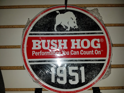 Bush Hog Tacker Aluminum Sign