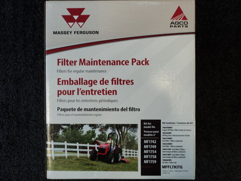 MFFLTKITG - 1742, 1749, 1754, 1758, 1759, Massey Ferguson Filter Maintenance