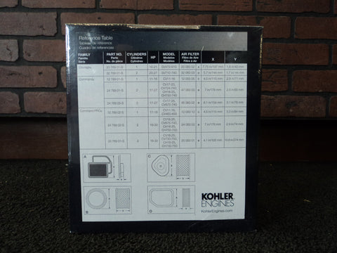 Kohler 24 789 02-s Command Pro Maintenace Kit