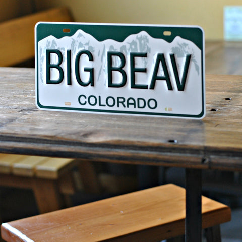 Big Beaver License Plate Sign