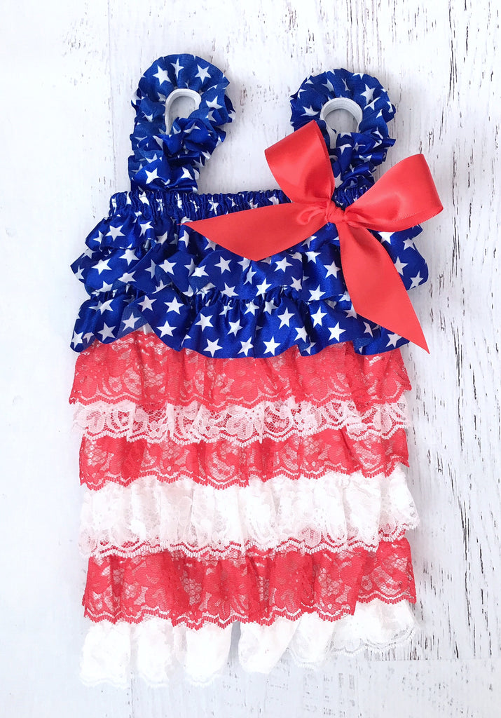 d118c98c40a8 Red White and Blue 4th of July Petti Romper – The Sassy Tot
