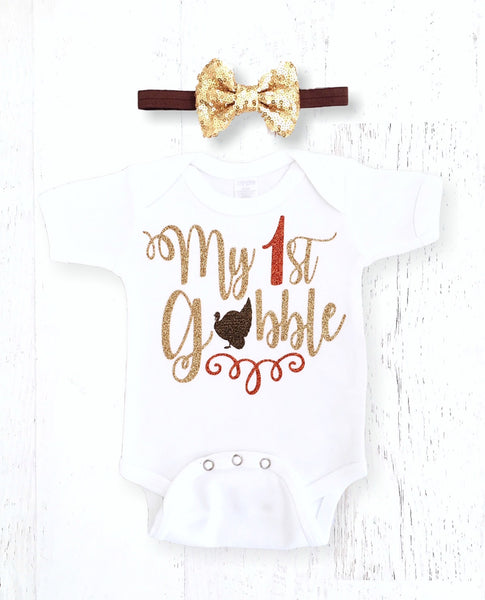 a9d9950921ef3 My First Thanksgiving Onesie – The Sassy Tot