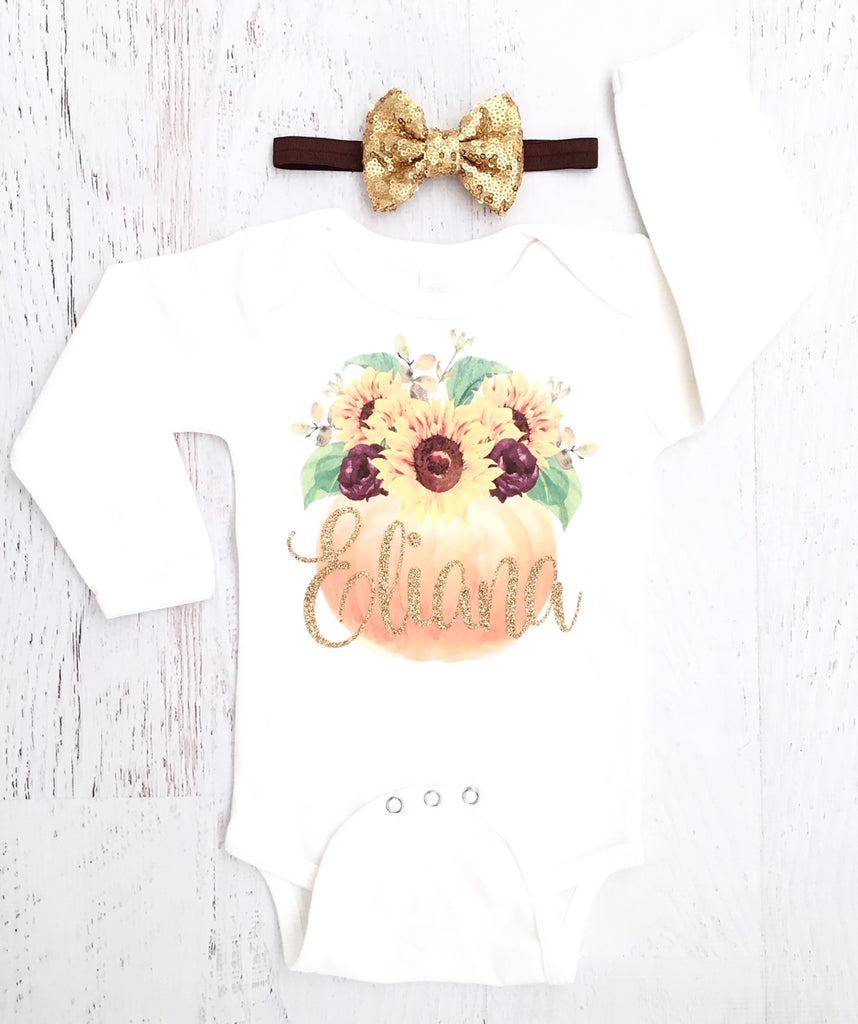 987b184a19d51 Personalized Boho Thanksgiving Onesie – The Sassy Tot