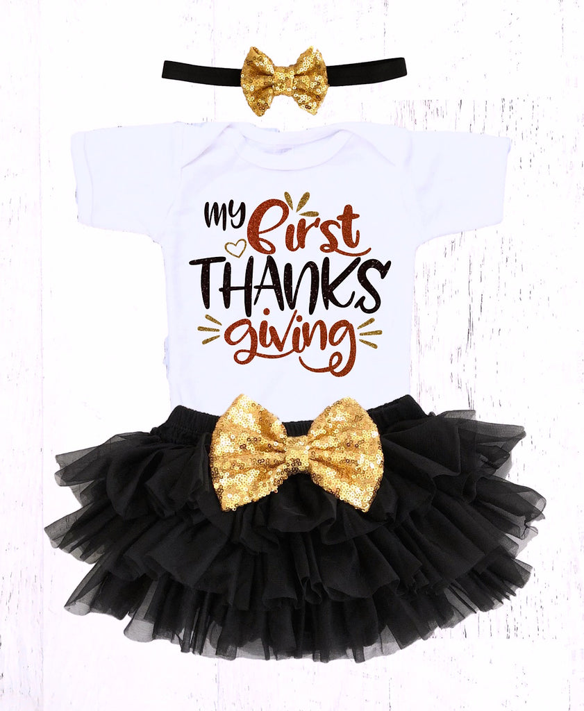 ce235cd4d17c5 Baby Girls My First Thanksgiving Outfit – The Sassy Tot