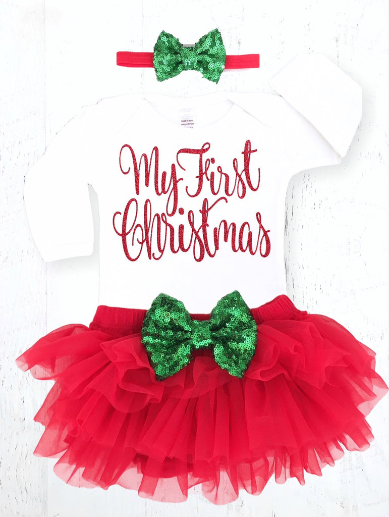 baby girls my first christmas outfit