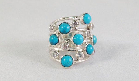 Turquoise Multi Band Ring