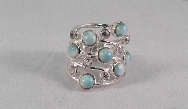 Larimar multiband ring