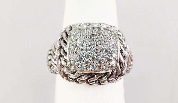 Twisted Rope Pavé Ring