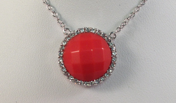 Rose Coral Necklace
