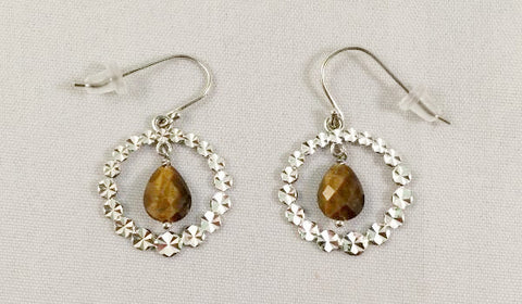 Tigers Eye Circle Earring