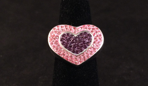Swarovski Heart Ring
