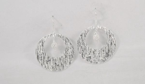 Textured Dangle Earrings