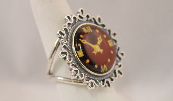 Carved Amber Ring