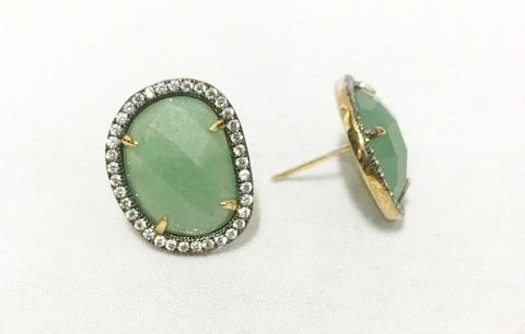 Jade Halo Earrings