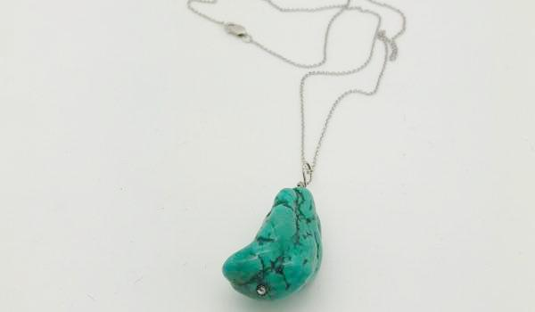 Natural Cut Turquoise Necklace