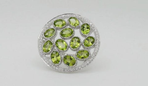 Peridot Cluster Ring