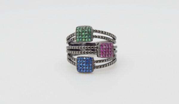 Square Pave Ring