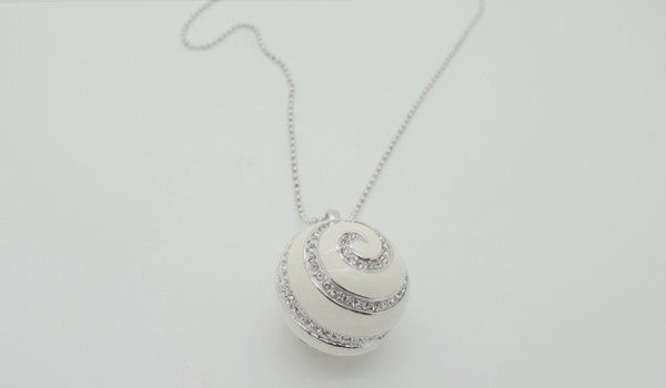 Enameled Ball Necklace