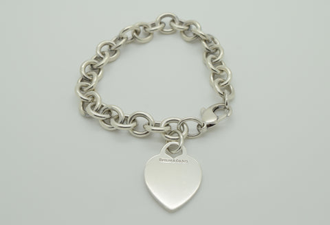 Tiffany & Co Heart Charm Bracelet