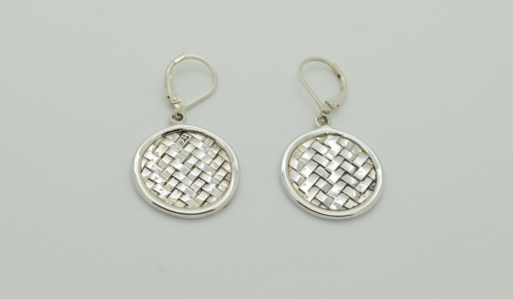 Circular Woven Earrings