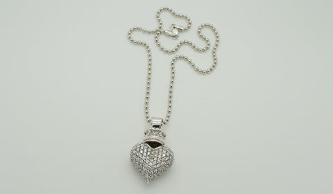 Queen Baby CZ Heart Necklace