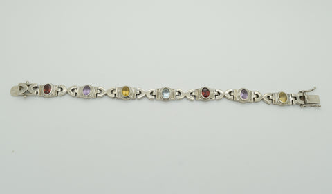 Multi Colored Stone Bracelet