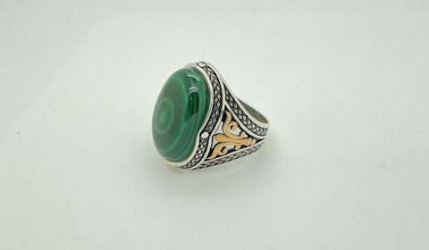Malachite Cabochon Ring