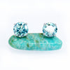 Total 2Carat Blue Moissanite Diamond Studs - 6Grape Fine Jewelry
