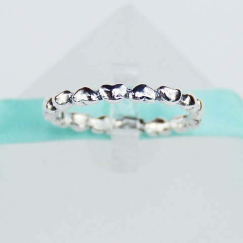 Eternity Heart Band in Sterling Silver - 6Grape Fine Jewelry