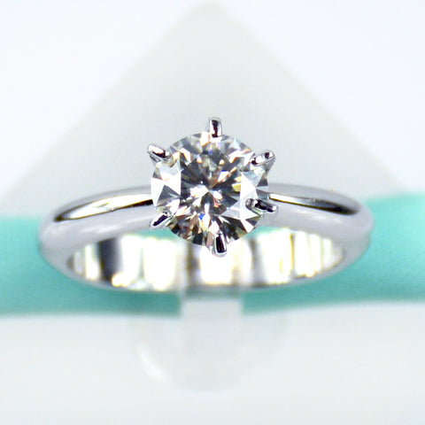 1 CT Moissanite Solitaire Ring - 6Grape Fine Jewelry