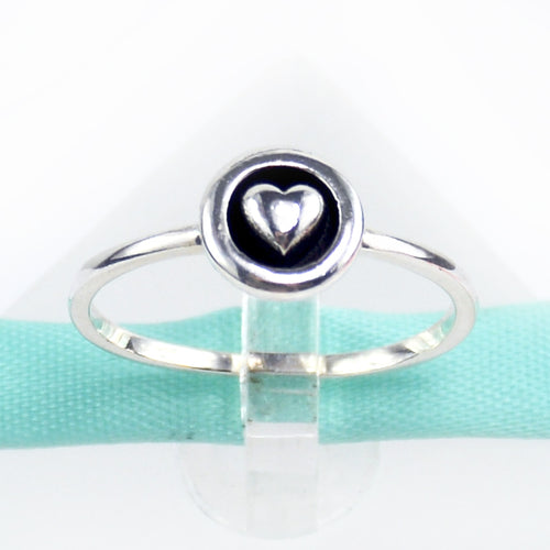 Sterling Silver Heart Ring - 6Grape Fine Jewelry