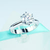 1.5 CT Moissanite Solitaire Ring