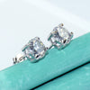 2CT White Moissanite Diamond Studs