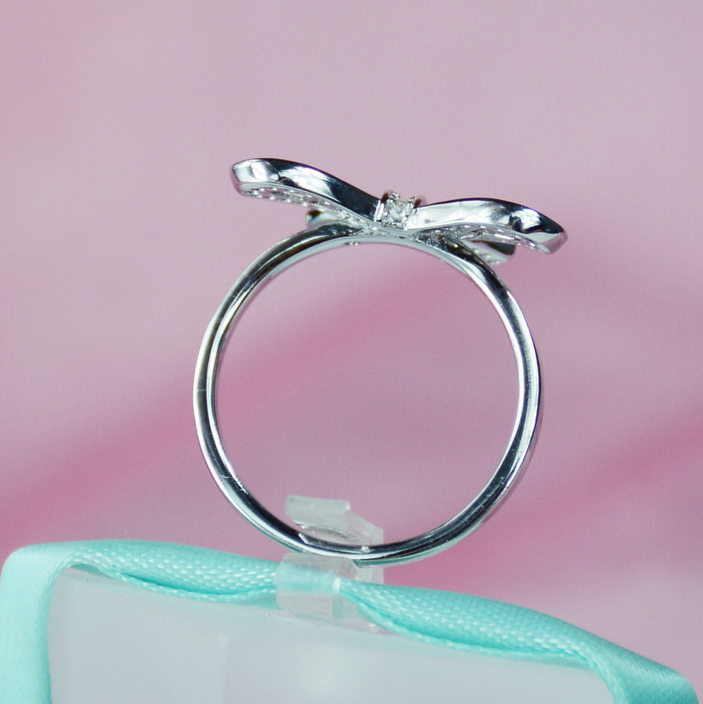 platinum finish elegant white love sterling silver ring simply arabella
