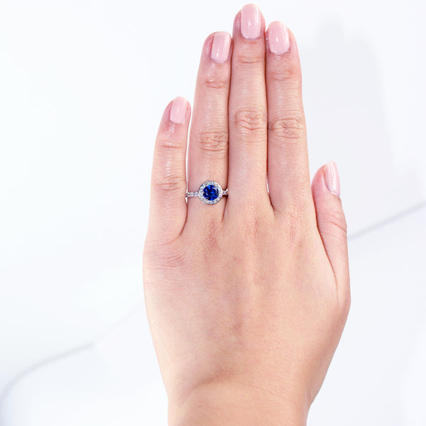 Blue Sapphire Ring - 6Grape Fine Jewelry
