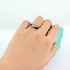 2Carat Moissanite Three Stone Ring - 6Grape Fine Jewelry