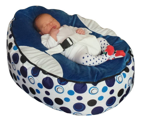 Spotty Series - Blue Circle Baby Bean Bag - Mama Baba                                                                     Baby Bean Bag World                   - 1