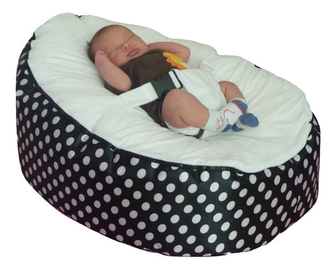 Excellent Polka Dot Series Spotty Black White Baby Bean Bag Squirreltailoven Fun Painted Chair Ideas Images Squirreltailovenorg