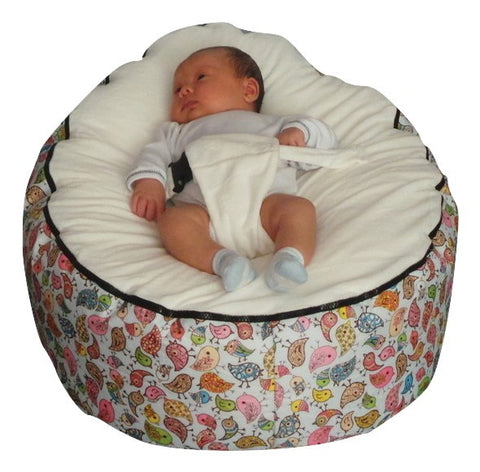 Extra Large Series - Birdie Baby Bean Bag - Mama Baba                                                                     Baby Bean Bag World