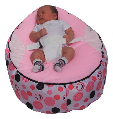 Extra Large Series - Spotty Light Pink Baby Bean Bag