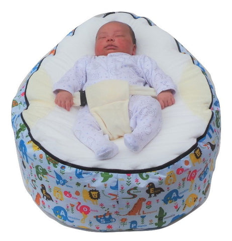 Extra Large Series - Animal White Baby Bean Bag - Mama Baba                                                                     Baby Bean Bag World