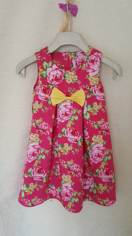 1a Vintage style Girls Floral summer party holiday dress from age 1 to 8