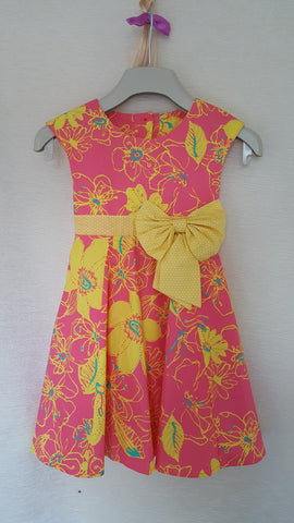 3a Vintage style Girls Floral summer party holiday dress from age 1 to 8