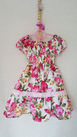 2b Vintage style Girls Floral summer party holiday dress from age 1 to 8