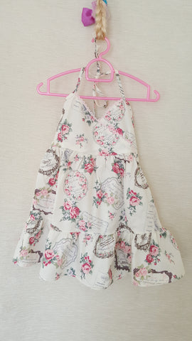 4b Vintage style 9 Girls Floral summer party holiday dress from age 1 to 8