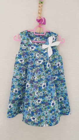 5E Vintage style Girls Floral summer party holiday dress from age 1 to 8