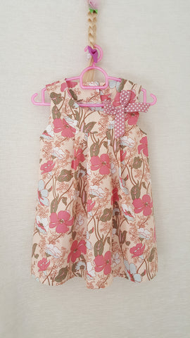 5d Vintage style Girls Floral summer party holiday dress from age 1 to 8